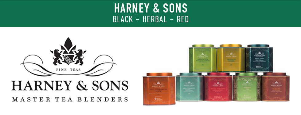 Picture of tea. Harney & Sons: black, herbal, and red. Fine teas. Harney & Sons: Master Tea Blenders.