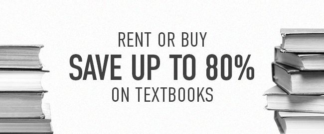 Picture of books. Rent or buy. Save up to 80% on textbooks.